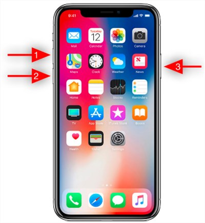 how to shut down iphone x