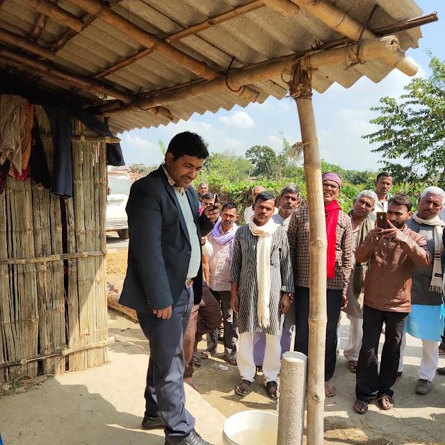 सलेमपुर के वार्ड-06 में बीडीओ ने किया जल नल का उद्घाटन