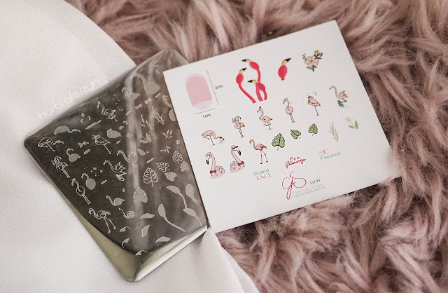 flamingo clear jelly stamper