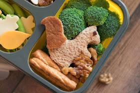 A Candied Walnut Eating Squirrel School Lunch Recipe featuring California Walnuts