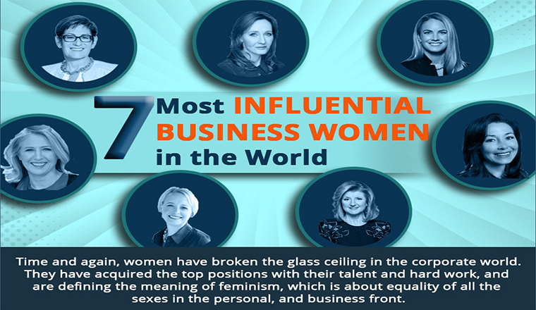 7 Most Influential Business Women in the World #infographic