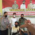 Danramil Bersama Muspika Kecamatan Padang Tiji, Pantau Pelaksanaan Vaksinasi Sinovak Bagi ASN
