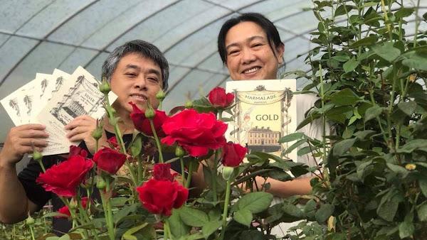 果醬界奧斯卡 南投埔里「玫開四度食用玫瑰園」奪下1金1銀4銅