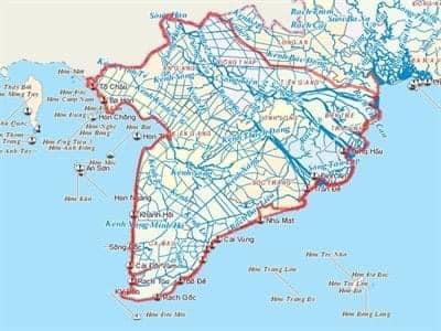 hệ thống kênh rạch chằng chịt ở miền Tây Nam Bộ