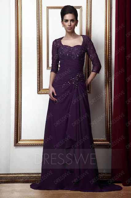 Fantastic Lace Beaded A-line Sweetheart Floor-Length Taline's Mother of the Bride Dress