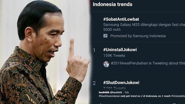 Protes Votters di Twitter Tanda-tanda Kekalahan Jokowi