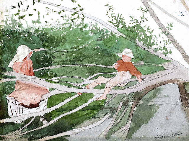 Winslow Homer, two children in a tree