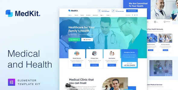 Best Health & Medical Elementor Template Kit
