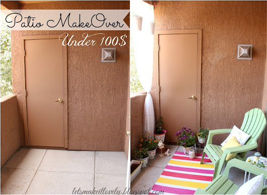 Perfect Summer Patio makeover for under 100$
