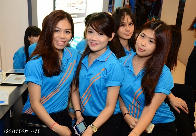 Some of the Celcom First ladies who will help you with your registration