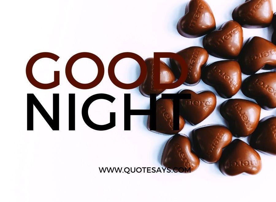 Good Night Heart Shape Chocolate