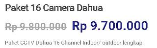 Paket 16 Camera Dahua