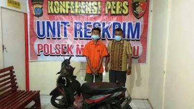 Beraksi dengan Air Softgun, Satu Pencuri Sepeda Motor Ditangkap, Rekannya DPO