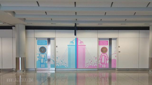 Lokasi Shower Room Bandara Hongkong