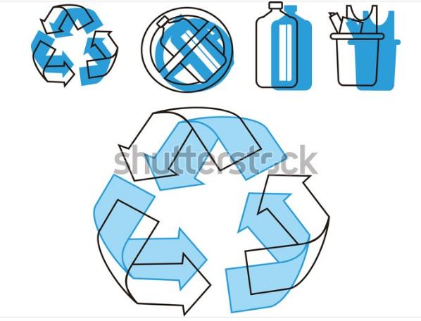 symbol up arrow recycle