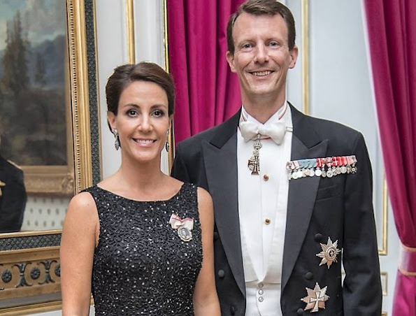 Prince Joachim and Princess Marie attended a dinner held in honor of Copenhagen Goodwill Ambassasor Corps at Amalienborg Christian VIII's Palace
