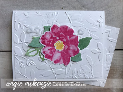 By Angie McKenzie on this Free-for-All Friday; Click READ or VISIT to go to my blog for details! Featuring the To A Wild Rose Stamp Set and Dies, Layered Leaves 3D Embossing Folder; #toawildrosestampset #cleanandsimple #stampinupinks #fauxoxidetechnique #paperscraps #anyoccasioncards #cardtechniques #vellumlayers #stamping