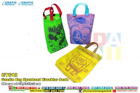 Goodie Bag Spunbond Karakter Anak