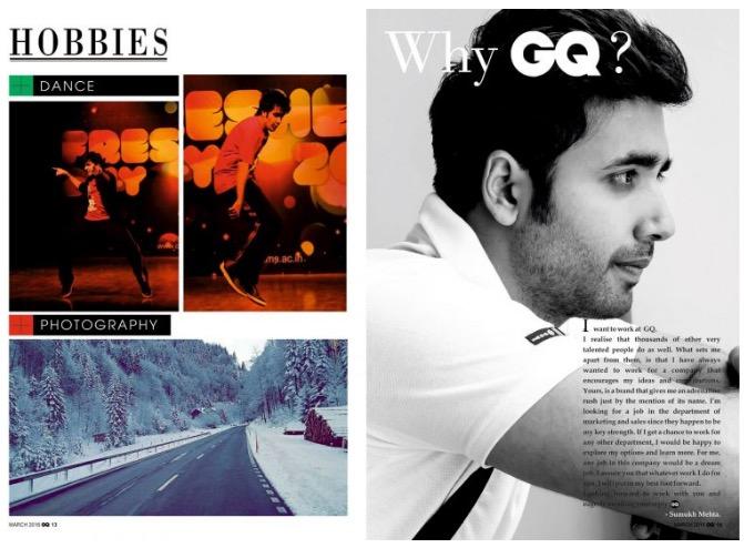 majalah CV resume infografis Sumukh Mehta