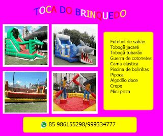 foto de brinquedos para aluguel em fortaleza