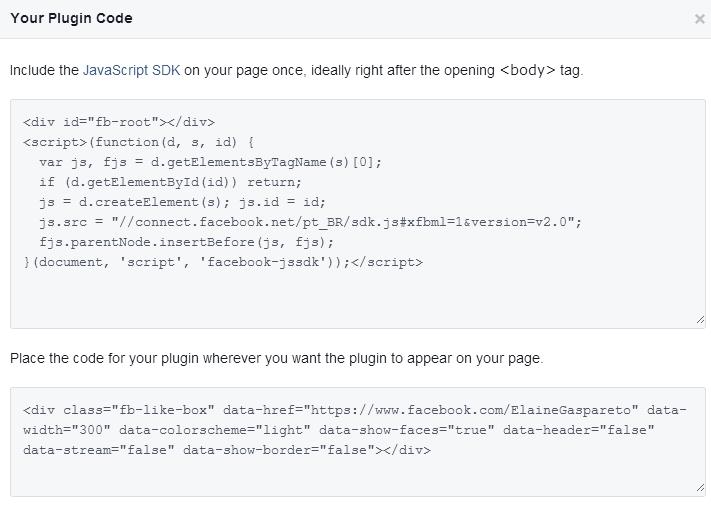 código da caixa de curtir do facebook