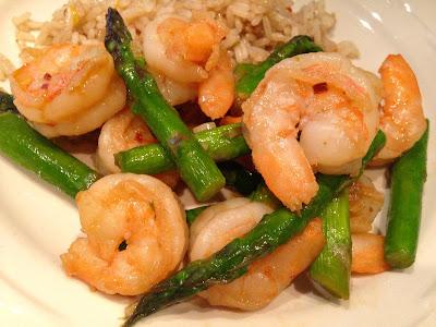 Shrimp & Asparagus Stir-Fry