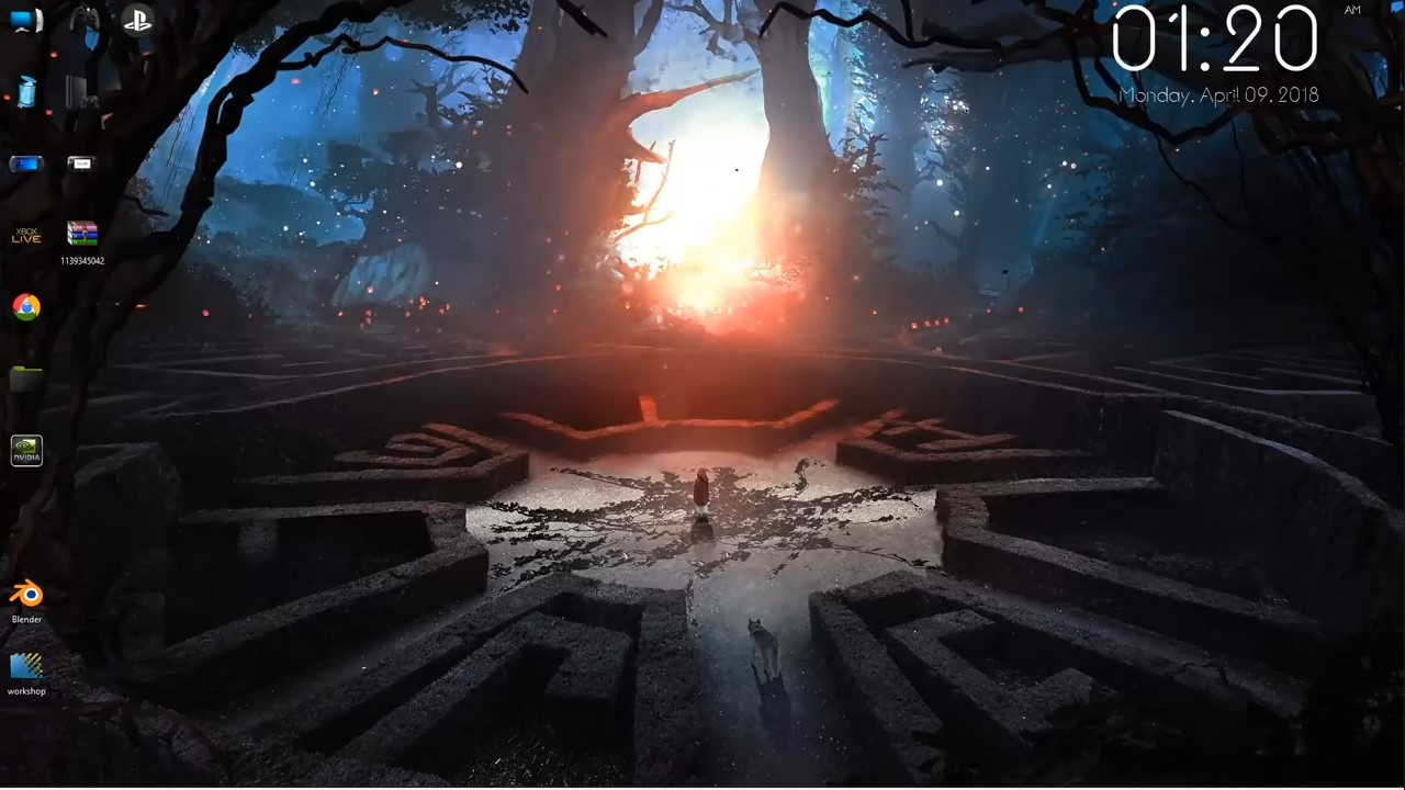 wallpaper engine anime Forest Maze Fantasy free download ...