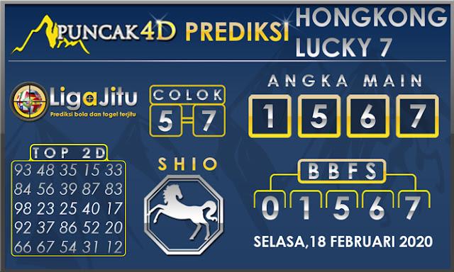 PREDIKSI TOGEL HONGKONG LUCKY7 PUNCAK4D 18 FEBRUARI 2020