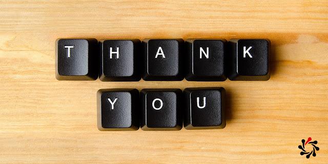 Thank you in keyboard keys