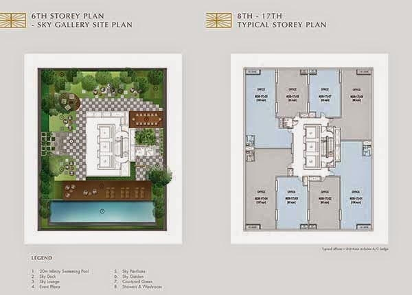 Crown @ Robinson 6th to 17th Storey Floor Plans