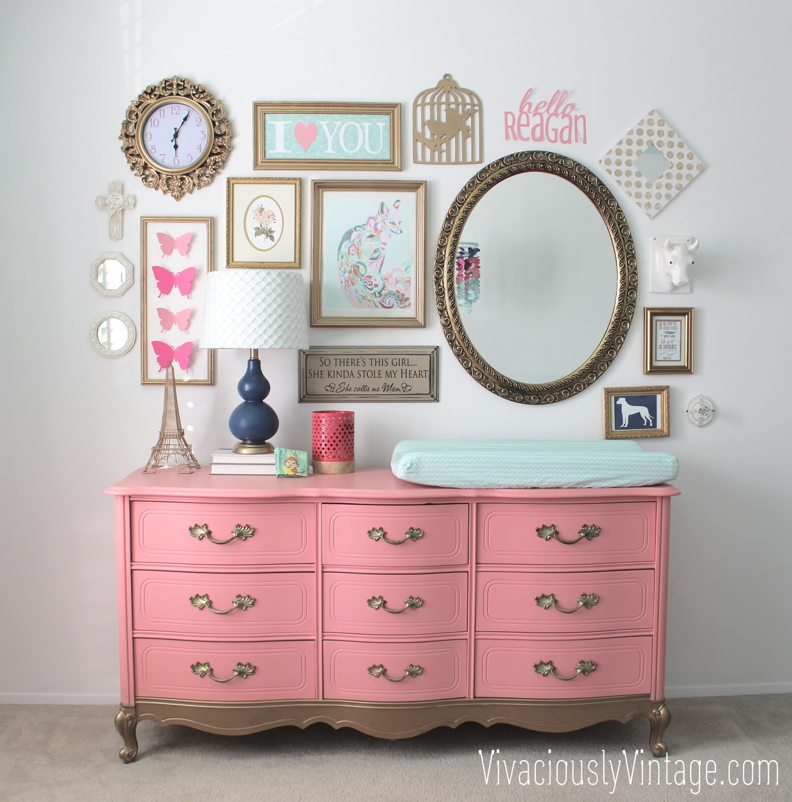 French Provencial Coral Dresser