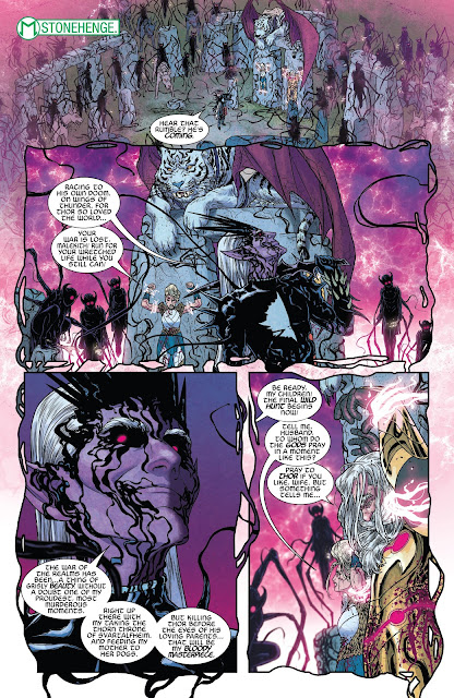 Malekith held Odin and Freyja as captive at Stonehenge to bait Thor to his Trap in War of the Realms Issue #6.