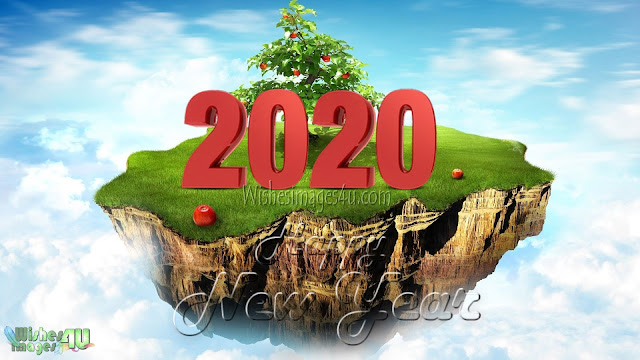 New Year 2020 Colorful 3D Background