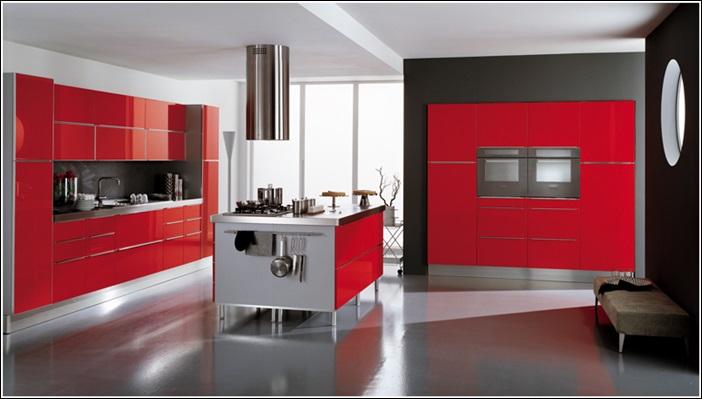 Cucina Moderna Bianca E Rossa | Poltrona Letto: Elegante E ...