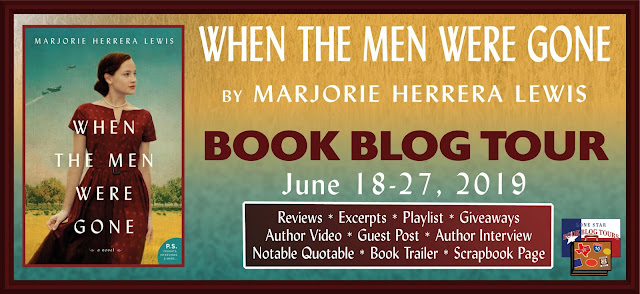 When the Men Were Gone book blog tour promotion banner