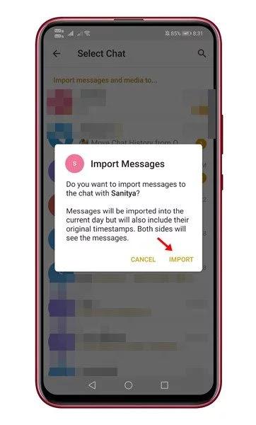 كيفية نقل سجل الدردشة من واتس اب إلى تلغرام