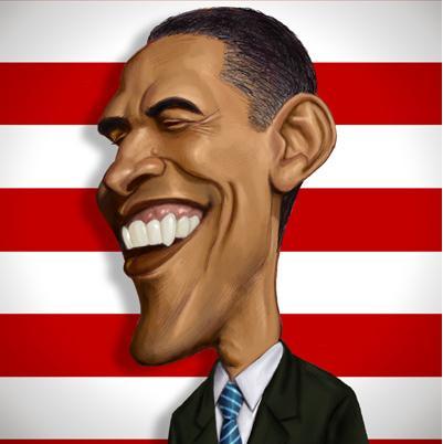 Foto de Barack Obama en ingeniosa caricatura