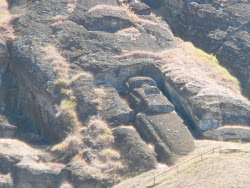 """Big Daddy"" left behind in Quarry, Rano Raruku Crater, Easter Island"