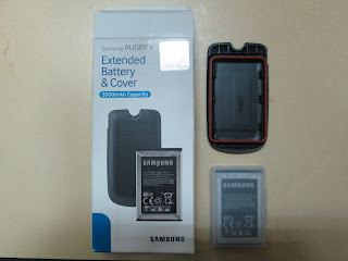 Baterai Hape Outdoor Samsung Rugby 4 Extended Battery Plus Cover 2000mAh Original