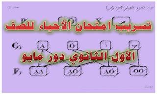 تسريب امتحان الأحياء للصف الأول الثانوي دور مايو امتحان أحياء اولي ثانوي ترم ثاني 2019