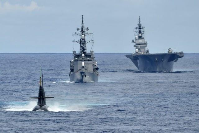 Tàu chiến Nhật tập trận ở Biển Đông