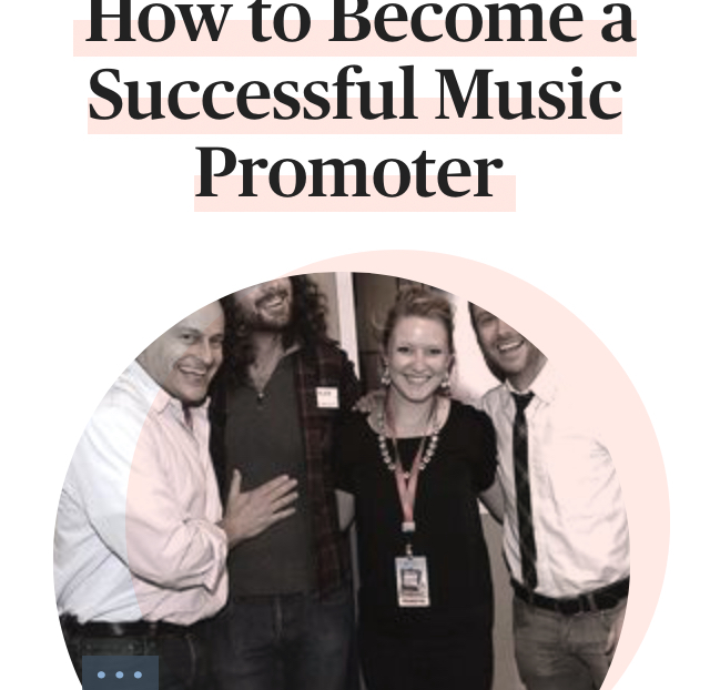 Becoming a Music Promoter