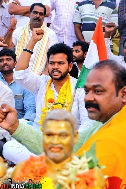 Ram Mohan Naidu with people
