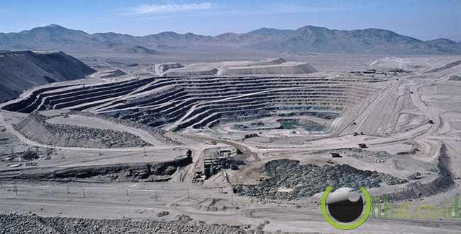 Pertambangan chuquicamata, Chile