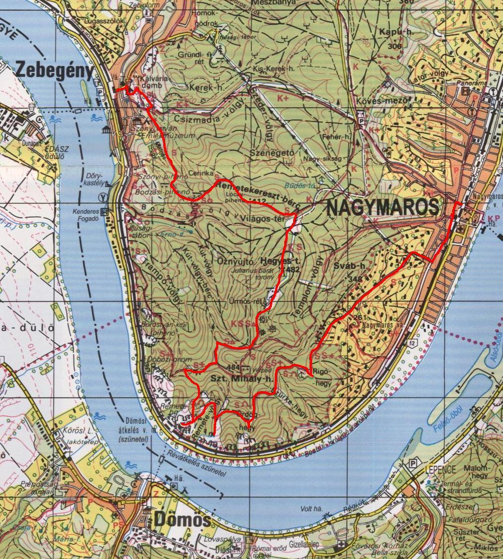 zebegény térkép Sothy túranaplója: 2010.10.30.   BÖRZSÖNY II. ( Nagymaros   Remete  zebegény térkép