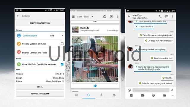 Aplikasi BBM Mod Terbaru Versi 2.13.1.14 Apk Full DP Only For Android