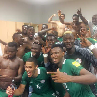 The Super Eagles enacted a virtuoso performance to earn a commanding 3-1 over Algeria's Fennecs on Saturday and take full control of Group B of Africa's 2018 FIFA World Cup qualifying race.   Chelsea of England ace Victor Moses weighed in with a brace, and Captain Mikel John Obi, also of the same English Premiership club, scored the other few minutes before half time   It was billed as a clash of the fiercest rivals in African football, and the full house at the Godswill Akpabio International Stadium, Uyo, which included Nigeria's number three man, Senate President Bukola Saraki, Sports Minister Solomon Dalung, former Akwa Ibom Governor Godswill Akpabio, Akwa Ibom Deputy Governor Moses Ekpo, NFF President Amaju Pinnick and other top dignitaries, was never disappointed.  Moses showed his hand as early as the seventh minute when he sliced his way past two Algerian defenders on the right, but saw his shot skip past the goalpost.  Arsenal of England's Alex Iwobi, who scored Nigeria's first goal of the qualifying campaign, against Zambia in Ndola five weeks ago, saw his snapshot go over the bar before Moses opened his account from an inspired move that also had Skipper Mikel Obi in the cast.  On the half hour mark, former world junior champion Kelechi Iheanacho, of Manchester City FC, who scored Nigeria's second against Zambia and had scored in all of the Eagles' four previous games before Saturday, watched as his diving header skimmed past Rais M'Bolhi's blind side. In the 36th minute, the Fennecs broke down the left as Brahimi, who worked tirelessly all evening, whipped a pull –out that Nabil Bentaleb managed to put over the bar.  Three minutes to recess, Obi scored the second as the energetic Oghenekaro Etebo located him in the box and the Algerians failed to perfect their offside trap.  The Fennecs saw more of the ball in the second half, and scored when Bentaleb was allowed acres of space to pick his spot and drive the ball hard past a despairing Akpeyi halfway into