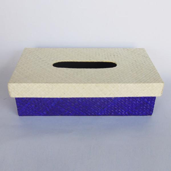 BOX TISSUE /TISU BISA DECOUPAGE ANYAMAN PANDAN POLOS WARNA WARNI KERAJINAN TANGAN RAJAPOLAH TASIKMALAYA