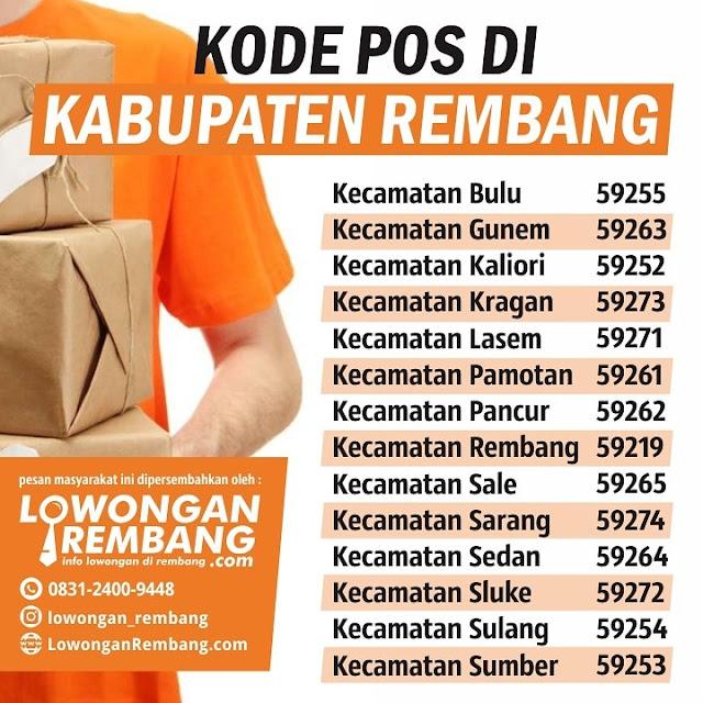 Akan Kirim Barang ? Catat Nih Kode Pos Se Kabupaten Rembang