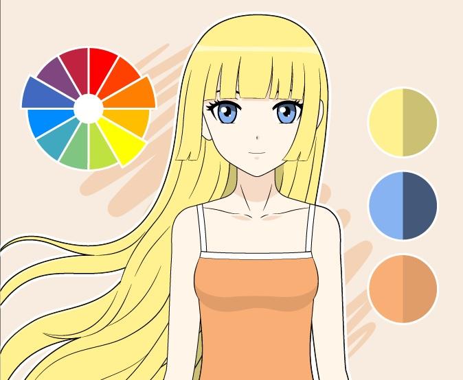 Pisahkan gambar warna pelengkap